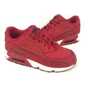 Nike Boys Air Max 90 LTR Running Shoes Red